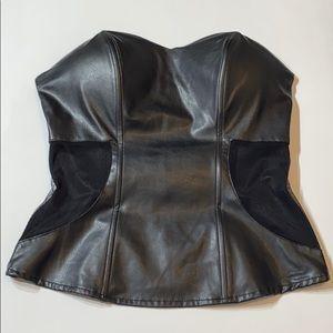 3. Charlotte Russe Black Faux Leather Corset